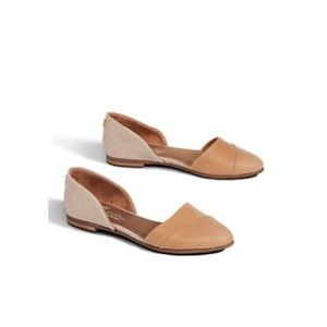 Toms Jutti D'orsay flats Tan Suede size 8